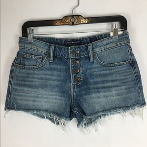 Lucky Brand The Cut Off Button Fly Jean Short